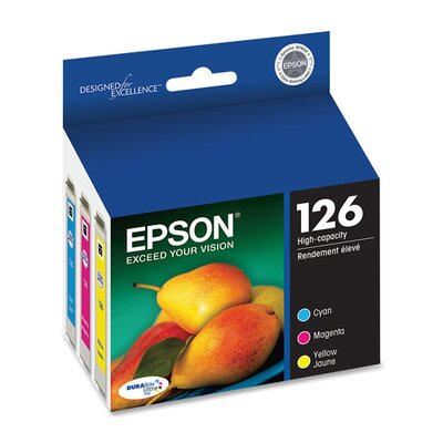 Epson America Inc. T126520 (126) High-Yield Ink, 3/Pack