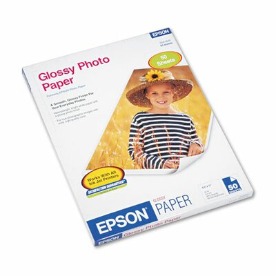 Epson America Inc. Glossy Photo Paper, 8-1/2 x 11, 50 Sheets per Pack