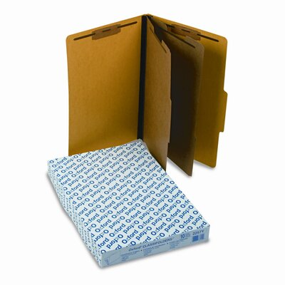 Esselte Pendaflex Corporation Pressguard Classification Folders, Legal, Six-Section, 10/Box