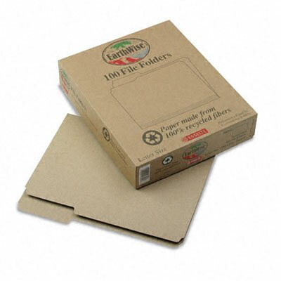 Esselte Pendaflex Corporation Earthwise Recycled File Folders, 1/3 Cut Top Tab, Letter, 100/Box