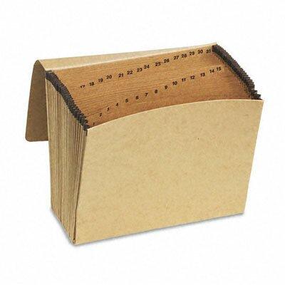Esselte Pendaflex Corporation Essentials Essentials 1-31 Expanding File, 31 Pockets, Kraft, Letter