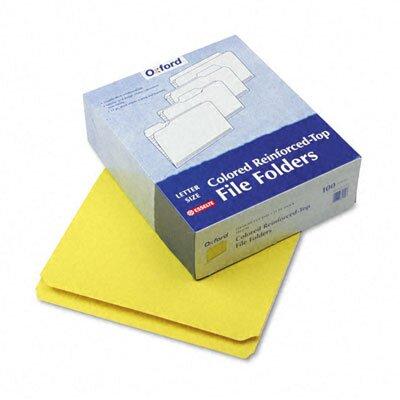 Esselte Pendaflex Corporation Two-Ply Reinforced File Folder, Straight Cut, Top Tab, Letter, 100/Box
