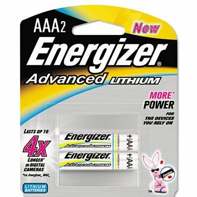 Energizer® Advanced Lithium Batteries, Aaa, 2/Pack