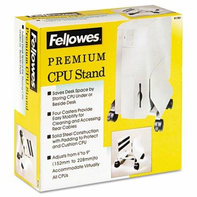"Fellowes Mfg. Co. Premium 9.2"" H x 8.6"" W Desk CPU Stand"