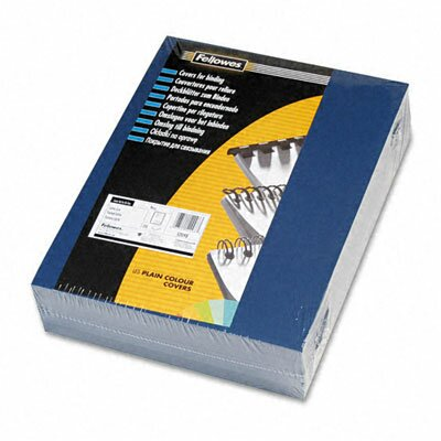Fellowes Mfg. Co. Linen Texture Presentation Binding System Covers, 8 1/2 x 11, Navy, 200 per Pack
