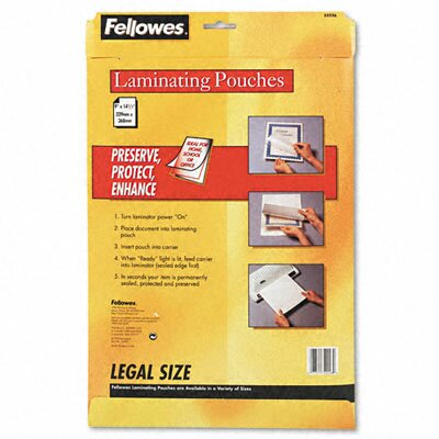 Fellowes Mfg. Co. 52226 Laminating Pouches, 3 Mil, 50/Pack