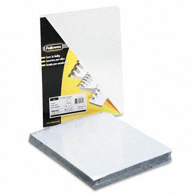 Fellowes Mfg. Co. 52311 Transparent Pvc Binding System Covers, 100/Pack