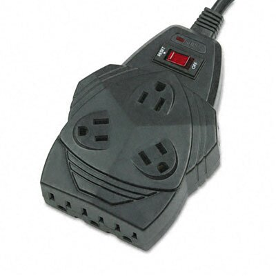 Fellowes Mfg. Co. Mighty 8 Surge Protector, 8 Outlets, 6Ft Cord