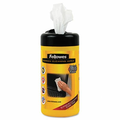 Fellowes Mfg. Co. Screen Cleaning Wet Wipes, 100/Tub