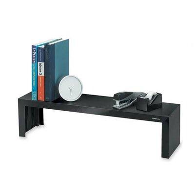 "Fellowes Mfg. Co. Shelf, Supports 30 lb., 26""x7""x6-1/4"", Black"