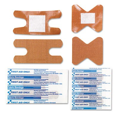 First Aid Only™ Knuckle and Fingertip Bandages, Sterilized, 5 of Each, 10 Total/Box
