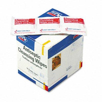 First Aid Only™ Antiseptic Cleansing Wipes, 50/Box