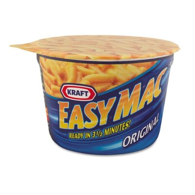 FIVE STAR DISTRIBUTORS, INC. Kraft Easy Mac Macaroni and Cheese, Micro Cups, 2.05 Oz., 10/Carton