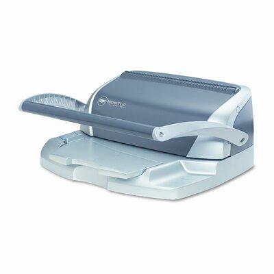 GBC® ProClick P110 Manual Comb Binding Machine, 110-Sheets, 16 x 14 x 9, Gray/Silver