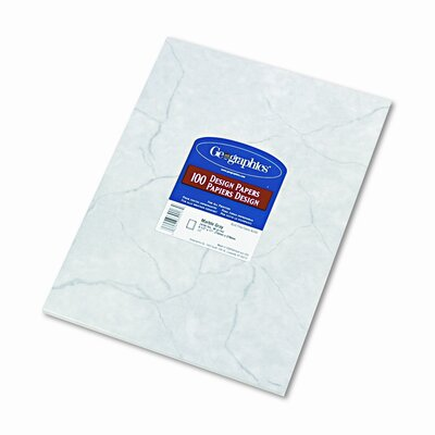 GEOGRAPHICS Design Paper, Marble, 24lb, Letter, 100 Sheets per Pack