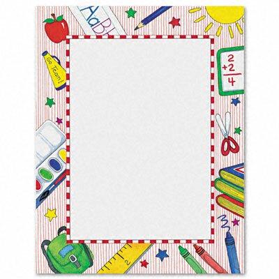 GEOGRAPHICS Design Paper, School, 24lb, Letter, 100 Sheets per Pack
