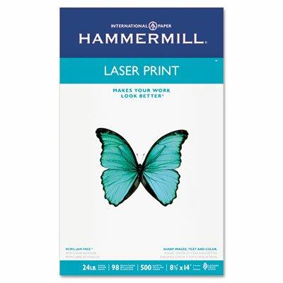 Hammermill Laser Print Office Paper, 98 Brightness, 24Lb, 8-1/2 X 14, 500 Sheets/Rm