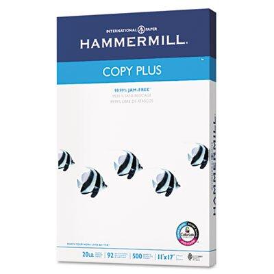 Hammermill Copy Plus Multipurpose Copy Paper, 92 Bright, 20lb, 11 x 17, White, 500 Sheets