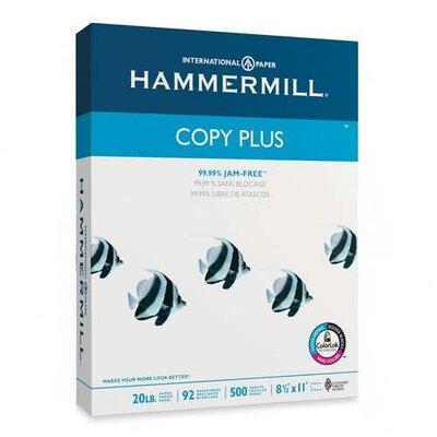 Hammermill Copy Plus Copy Paper, 92 Brightness, 20lb, 8-1/2 x 11, White, 500 Sheets/Ream
