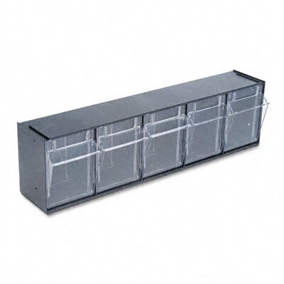 Deflect-O Corporation Tilt Bin Plastic Storage System with 5 Bins