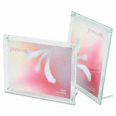 Deflect-O Corporation Superior Image Beveled Edge L-Frame Base Desk Sign Holder, Acrylic, 8-1/2 x 11