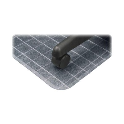 Deflect-O Corporation Checkered Low Pile Carpet Beveled Edge Chair Mat
