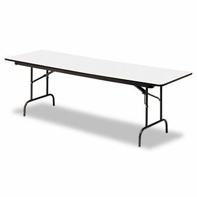 "Iceberg Enterprises Iceberg Premium Wood Laminate 96"" Rectangular Folding Table"