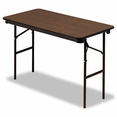"""Iceberg Enterprises Iceberg Economy Wood Laminate 48"""" Rectangular Folding Table"""