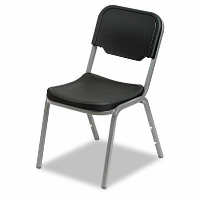 Iceberg Enterprises Rough 'n' Ready Armless Mid-Back Leather Stacking Chair