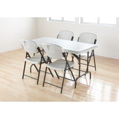 Iceberg Enterprises Economy Folding Chair in Platinum (Pack of 4)