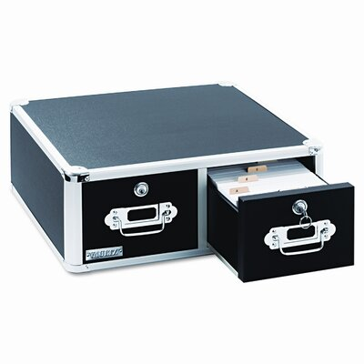 Ideastream Products Vaultz Vaultz Locking Two-Drawer Index Card Box