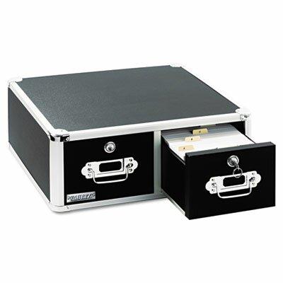 Ideastream Products Vaultz Vaultz Locking 5 X 3 Two-Drawer Index Card Box