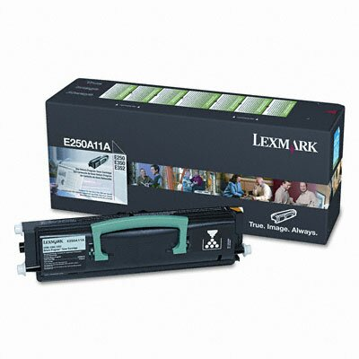 Lexmark International E250A11A Toner Cartridge, 3500 Page-Yield