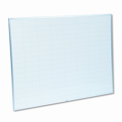 Magna Visual, Inc. Magna Visual MagnaWite Schedule Planning Wall Mounted Graphic/Grid Whiteboard, 3' x 4'