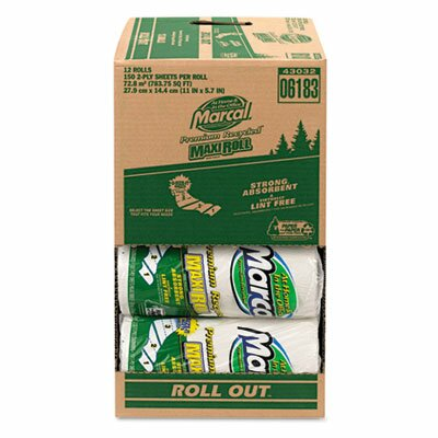 Marcal Paper Mills, Inc. Small Steps 100% Premium Recycled Out Case 2-Ply Paper Towels - 140 Sheets per Roll