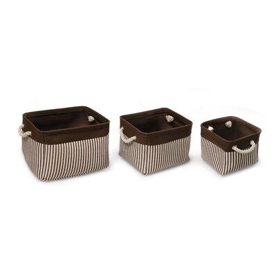 3 Piece Nesting Square Basket Set with Liners by Badger Basket