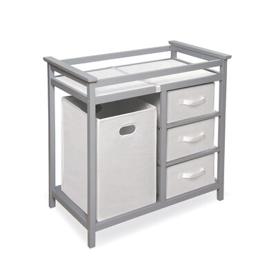 Badger Basket Modern Baby Changing Table with 3 Baskets & Hamper Hamper 02500