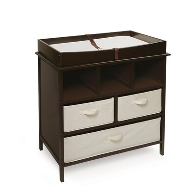 Badger Basket Estate Baby Changing Table with 3 Baskets Changing Table