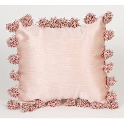 Glenna Jean Madison with Pom Poms Throw Pillow
