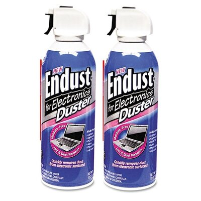 NORAZZA, INC. Endust Compressed Air Duster for Electronic, 2 Per Pack