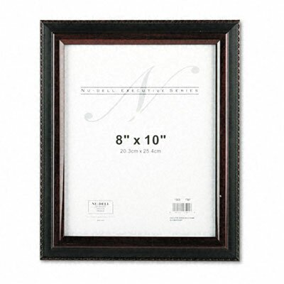 Executive Document Frame, Plastic, 8 x 10, Black/Mahogany by Nu-Dell