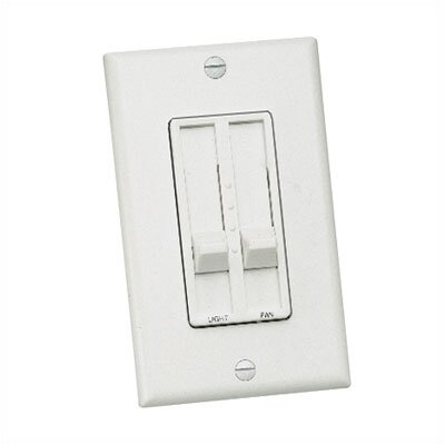 Three Speed Slide Dual Ceiling Fan Wall Control by Craftmade