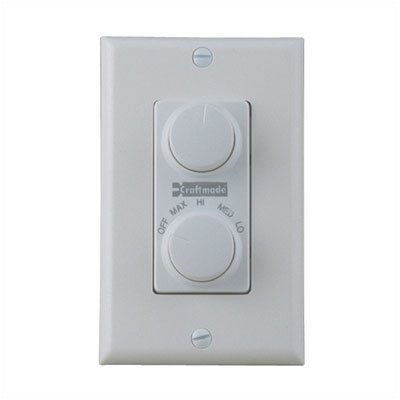Four Speed Dual Ceiling Fan Wall Control by Craftmade