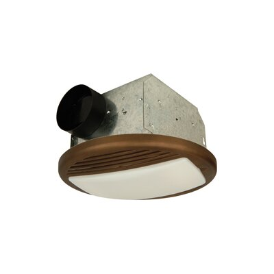 Round Bathroom Ventilation Fan in Bronze by Craftmade