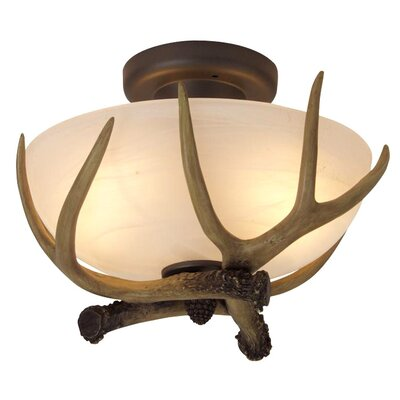 Antler Bowl 2 Light Semi Flush Mount Product Photo