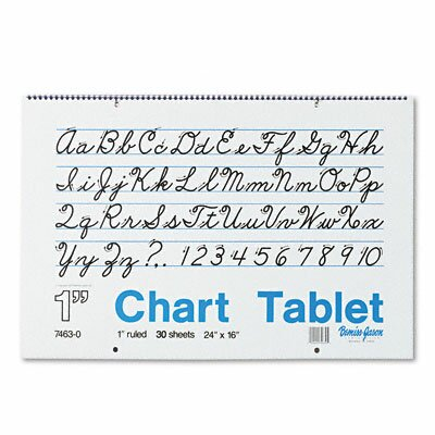 Pacon Corporation Chart Tablet with Cursive Cove/Pad