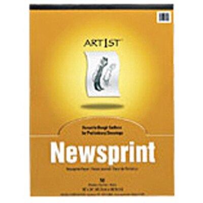 Pacon Corporation Art1st Newsprint Pad 12x18 50 Sht