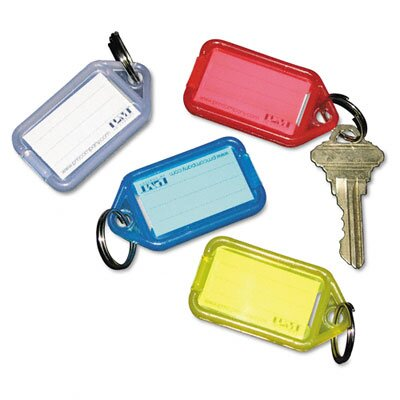 PM Company Securit Extra Color-Coded Key Tags for Key Tag Rack, 4/Pack