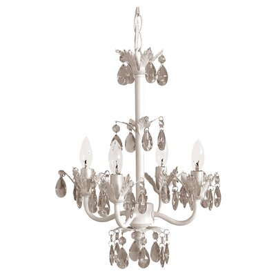 4 Light Wrought Iron Chandelier Product Photo
