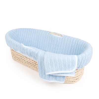 Cable Knit Moses Basket by Tadpoles